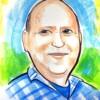 ציור על פוסטר נייר צבעוני בצבע